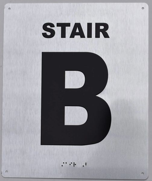 STAIR B- BRAILLE (ALUMINUM SIGNS 12X10)- The Sensation line