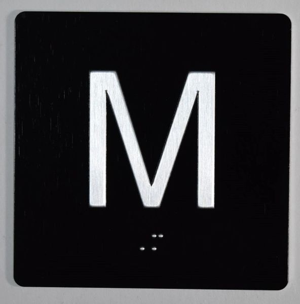 ELEVATOR JAMB- M - BLACK (ALUMINUM SIGNS 4X4)