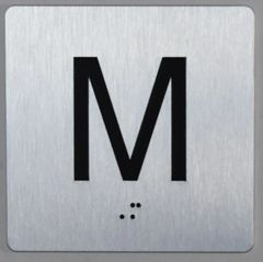 ELEVATOR JAMB- M - SILVER (ALUMINUM SIGNS 4X4)