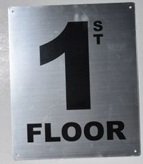 1ST FLOOR SIGN- SILVER (ALUMINUM SIGNS 12X10)- Monte Rosa Line
