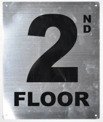 2ND FLOOR SIGN- SILVER (ALUMINUM SIGNS 12X10)- Monte Rosa Line