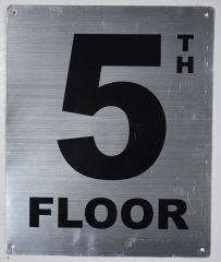 5th FLOOR SIGN- SILVER (ALUMINUM SIGNS 12X10)- Monte Rosa Line