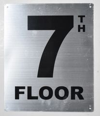 7th FLOOR SIGN- SILVER (ALUMINUM SIGNS 12X10)- Monte Rosa Line