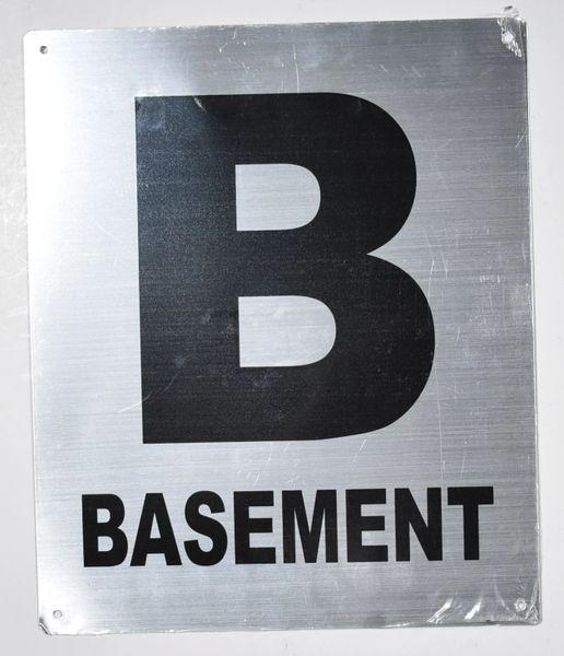 BASEMENT SIGN (Aluminium 12X10)- Monte Rosa Line