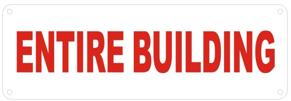 ENTIRE BUILDING SIGN (ALUMINUM SIGNS 4X12)