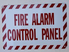 FIRE ALARM CONTROL PANEL SIGN- WHITE BACKGROUND (ALUMINUM SIGNS 7X10)