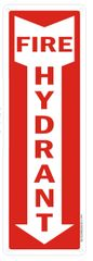 FIRE HYDRANT SIGN- WHITE BACKGROUND (ALUMINUM SIGNS 12X4)