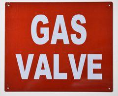 GAS VALVE SIGN (ALUMINUM SIGNS 10X12)