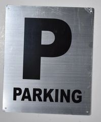 PARKING SIGN- SILVER BACKGROUND (ALUMINUM SIGNS 10X12)- Monte Rosa Line