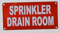 SPRINKLER DRAIN ROOM SIGN- REFLECTIVE !!! (ALUMINUM SIGNS 3X6)