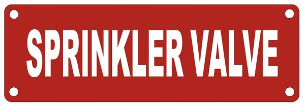 SPRINKLER VALVE SIGN- Reflective !!! (ALUMINUM SIGNS 2X6)
