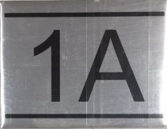 APARTMENT NUMBER SIGN – 1A - BRUSHED ALUMINUM