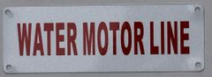 WATER MOTOR LINE SIGN (ALUMINUM SIGNS 2X6)