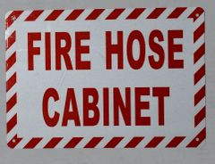 FIRE HOSE CABINET SIGN (ALUMINUM SIGNS 7X10)
