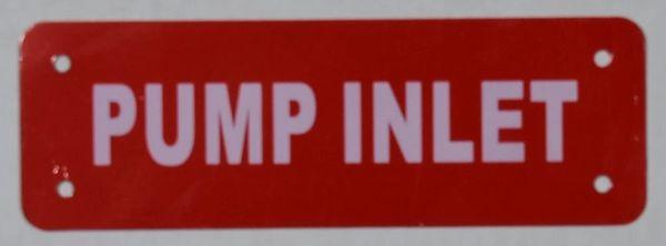 PUMP INLET SIGN (ALUMINUM SIGNS 2X6)
