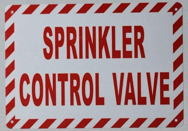 SPRINKLER CONTROL VALVE SIGN (ALUMINUM SIGNS 7x10)