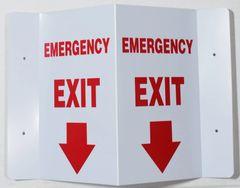 3D EMERGENCY EXIT SIGN (3D projection signs 5.5X9)- Les Deux cotes line