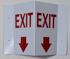 3D EXIT SIGN (3D projection signs 5.5X9)- Les Deux cotes line