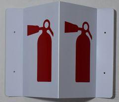 3D FIRE EXTINGUISHER SIGN (3D projection signs 5.5X9)- Les Deux cotes line