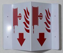 3D FIRE HOSE SIGN (3D projection signs 5.5X9)- Les Deux cotes line
