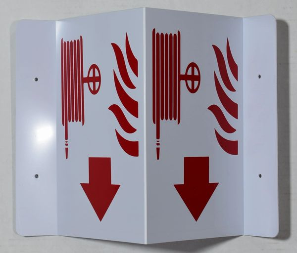 3D FIRE HOSE SIGN (3D projection signs 5.5X9)- Les Deux cotes line