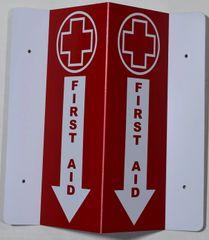 3D FIRST AID SIGN (3D projection signs 5.5X9)- Les Deux cotes line