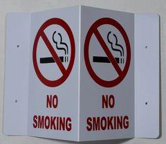 3D NO SMOKING SIGN (3D projection signs 5.5X9)- Les Deux cotes line
