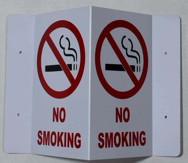 3D NO SMOKING SIGN (3D projection signs 5.5X9)- Les Deux cotes line