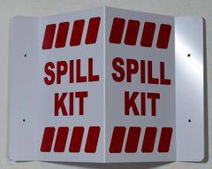 3D SPILL KIT SIGN- RED LETTERS (3D projection signs 5.5X9)- Les Deux cotes line