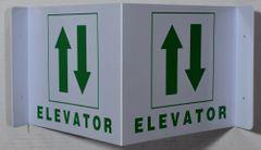 ELEVATOR SIGN (3D projection signs 9X7)- Les Deux cotes line