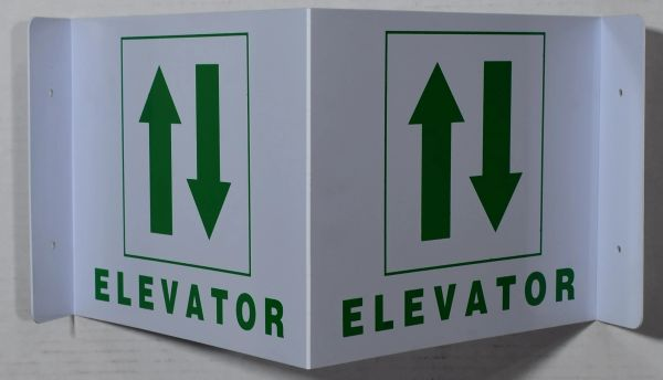 ELEVATOR SIGN (3D projection signs 9X7)- Les Deux cotes line