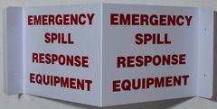 3D EMERGENCY SPILL RESPONSE EQUIPMENT SIGN (3D projection signs 9X7)- Les Deux cotes line