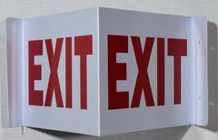 3D EXIT SIGN (3D projection signs 9X7)- Les Deux cotes line