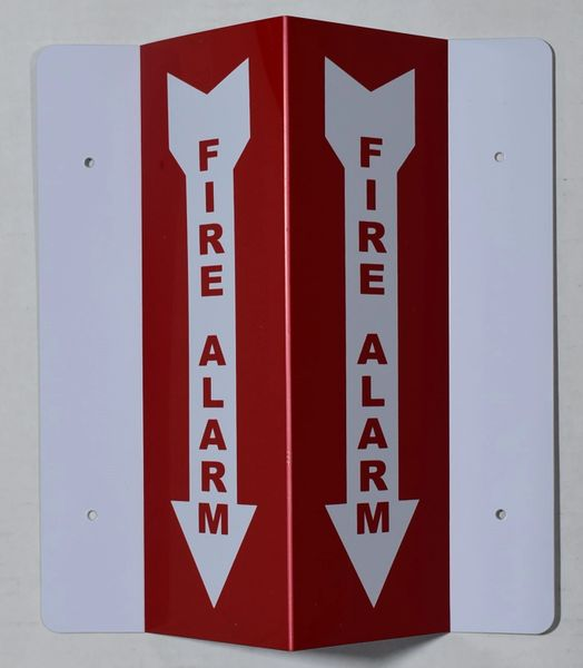 3D FIRE ALARM SIGN (3D projection signs 4X10)- Les Deux cotes line