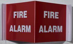 3D FIRE ALARM SIGN (3D projection signs 4X10)- Les Deux cotes line