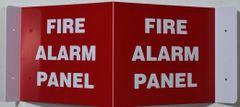 3D FIRE ALARM PANEL SIGN (3D projection signs 9X7)- Les Deux cotes line