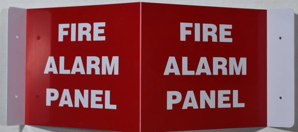 3D FIRE ALARM PANEL SIGN (3D projection signs 9X7)- Les Deux cotes line