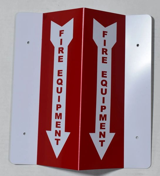 3D FIRE EQUIPMENT SIGN (3D projection signs 4X10)- Les Deux cotes line