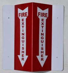 3D FIRE EXTINGUISHER SIGN (3D projection signs 4X10)- Les Deux cotes line