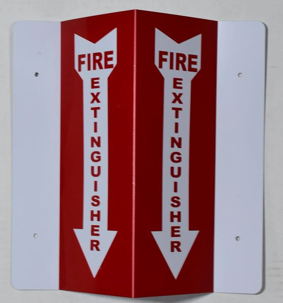 3D FIRE EXTINGUISHER SIGN (3D projection signs 4X10)- Les Deux cotes line