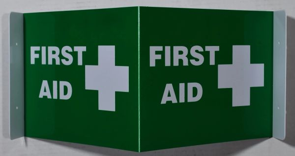 3D FIRST AID SIGN (3D projection signs 9X7)- Les Deux cotes line