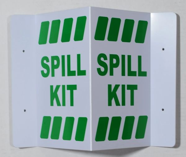 3D SPILL KIT SIGN- GREEN LETTERS (3D projection signs 5.5X9)- Les Deux cotes line