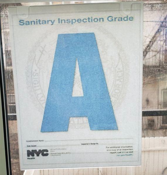 NYC Restaurant letter grade frame (Size 8.5x11, Front load)