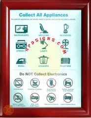 NYC Electronic recycle and appliances frame (red, frame 8.5x11, Front load)