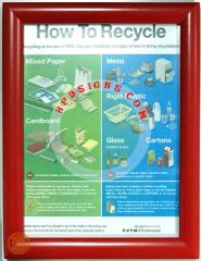 NYC How to recycle frame (red, frame 8.5x11, Front load)