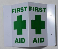 3D FIRST AID SIGN (3D projection signs 9X5.5)- Les Deux cotes line