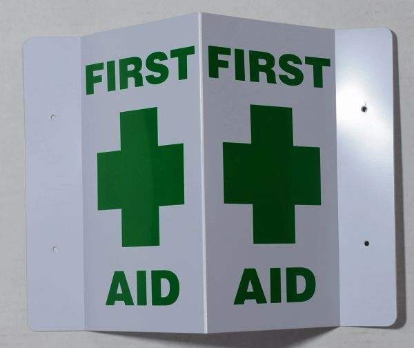 3D FIRST AID SIGN (3D projection signs 9X5.5)- Les Deux cotes line