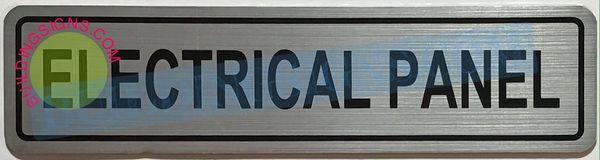 ELECTRICAL PANEL SIGN - ALUMINUM (ALUMINUM SIGNS 2X8)