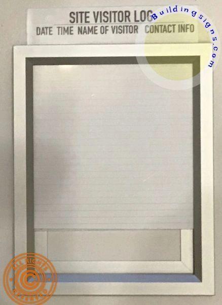 Site Visitor log frame -construction Visitor log frame (Aluminium, Front Load, 8.5x11)-dob