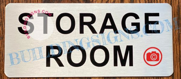 STORAGE ROOM SIGN- SILVER (ALUMINUM SIGNS 3.5X8)